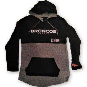 Denver Broncos Lightweight Pullover Hoodie New